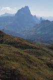 Σειρά βουνών ορεινών περιοχών Annam στο Λάος στοκ εικόνα