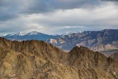 Σειρά βουνών σε Leh Ladakh Στοκ Φωτογραφία