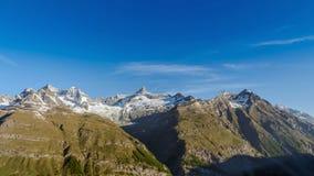 Σειρά βουνών σε Matterhorn, Ελβετία Στοκ Εικόνες