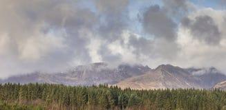 Σειρά βουνών στο νησί Arran στη Σκωτία Στοκ φωτογραφία με δικαίωμα ελεύθερης χρήσης