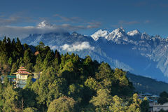 Σειρά βουνών Himalayan σε Ravangla, Sikkim Στοκ εικόνες με δικαίωμα ελεύθερης χρήσης