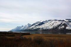 Σειρά βουνών Teton στο Τζάκσον Ουαϊόμινγκ Στοκ Φωτογραφίες