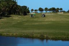 Σειρά γηπέδων του γκολφ στοκ εικόνες