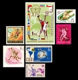 Σειρά γραμματοσήμων καλαθοσφαίρισης Στοκ Εικόνες