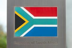 Σειρά εθνικών σημαιών στον πόλο - Δημοκρατία της Νοτίου Αφρικής Στοκ φωτογραφία με δικαίωμα ελεύθερης χρήσης
