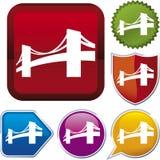σειρά εικονιδίων γεφυρών Στοκ Εικόνα