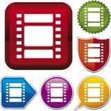 σειρά εικονιδίων κινηματ&o Στοκ φωτογραφία με δικαίωμα ελεύθερης χρήσης