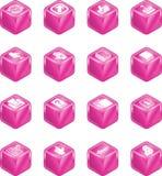 σειρά εικονιδίων κύβων εφ Στοκ Εικόνα