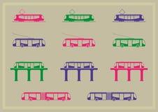 Σειρά εικονιδίων δημόσιου μέσου μεταφοράς Στοκ εικόνα με δικαίωμα ελεύθερης χρήσης