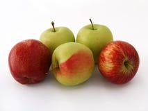 Σειρά εικόνων φρούτων μήλων GGreen κατάλληλη για το σχέδιο 3 συσκευασίας Στοκ Φωτογραφίες