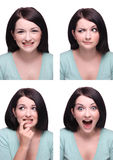 σειρά εκφράσεων στοκ εικόνα