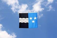 σειρά Ελβετός σημαιών καν& στοκ εικόνες