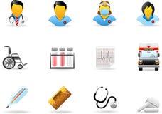 σειρά ιατρικής εικονιδί&omega Στοκ Εικόνες