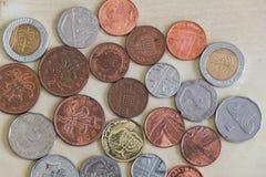 Σειρά διαφορετικών νομισμάτων Στοκ Εικόνες