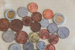 Σειρά διαφορετικών νομισμάτων Στοκ φωτογραφίες με δικαίωμα ελεύθερης χρήσης