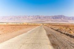 Σειρά Ισραήλ Ιορδανία οδικών βουνών ασφάλτου ερήμων Στοκ Εικόνες