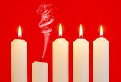 σειρά κεριών Στοκ εικόνες με δικαίωμα ελεύθερης χρήσης