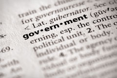 σειρά κυβερνητικής πολιτικής λεξικών Στοκ φωτογραφία με δικαίωμα ελεύθερης χρήσης