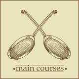σειρά μαθημάτων βασικό menu2 Στοκ Φωτογραφίες