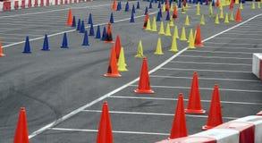 σειρά μαθημάτων slalom Στοκ φωτογραφίες με δικαίωμα ελεύθερης χρήσης
