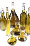 Σειρά μπουκαλιών του ελαιολάδου Στοκ εικόνες με δικαίωμα ελεύθερης χρήσης