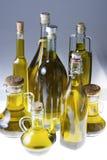 Σειρά μπουκαλιών του ελαιολάδου Στοκ εικόνα με δικαίωμα ελεύθερης χρήσης