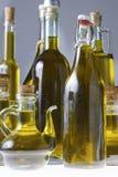 Σειρά μπουκαλιών του ελαιολάδου Στοκ φωτογραφία με δικαίωμα ελεύθερης χρήσης