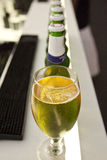 σειρά μπυρών στοκ φωτογραφία