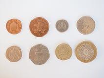 Σειρά νομισμάτων λιβρών Στοκ Φωτογραφίες
