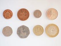Σειρά νομισμάτων λιβρών Στοκ Εικόνες