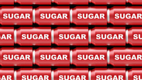Σειρά δοχείων ζάχαρης απεικόνιση αποθεμάτων