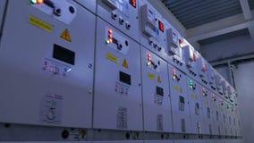 Σειρά παραθύρων των ηλεκτρικών συσκευών με τα φωτισμένα κουμπιά φιλμ μικρού μήκους