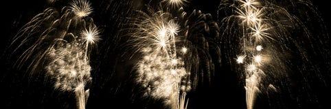 σειρά πηγών πυροτεχνημάτων Στοκ Εικόνες