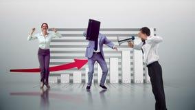 Σειρά πηδώντας επιχειρηματιών σε σε αργή κίνηση διανυσματική απεικόνιση