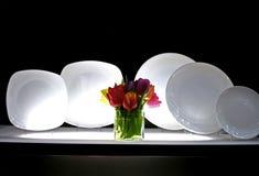 σειρά πιάτων Στοκ Εικόνες