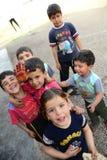 Σειρά πορτρέτων των συριακών προσφύγων παιδιών Στοκ Φωτογραφίες