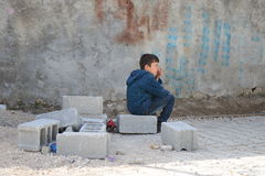 Σειρά πορτρέτων των συριακών προσφύγων παιδιών Στοκ φωτογραφία με δικαίωμα ελεύθερης χρήσης