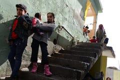 Σειρά πορτρέτων των συριακών προσφύγων παιδιών Στοκ Φωτογραφία