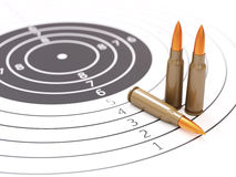 Σειρά πυροβολισμού και τρισδιάστατη απεικόνιση έννοιας στόχων Στοκ Εικόνες