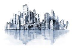 σειρά πόλεων αστική απεικόνιση αποθεμάτων