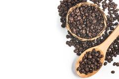 σειρά πλαισίων πλαισίων τροφίμων καφέ φασολιών Στοκ Εικόνα