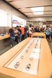 Σειρά 3 ρολογιών της Apple στη Apple Store Στοκ Εικόνες