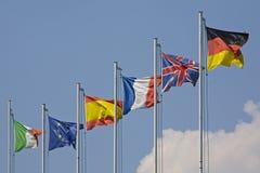 σειρά σημαιών Στοκ Φωτογραφία