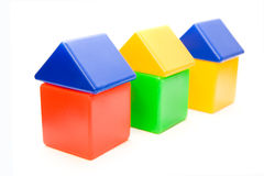 σειρά σπιτιών χρώματος Στοκ Εικόνες