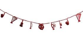 Σειρά της διακόσμησης Χριστουγέννων Στοκ εικόνες με δικαίωμα ελεύθερης χρήσης