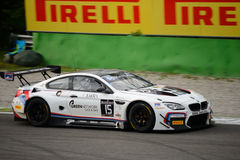 Σειρά της GT Blancpain BMW M6 που συναγωνίζεται σε Monza Στοκ Εικόνες