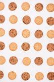σειρά τροφίμων μπισκότων ανασκόπησης Υπόβαθρο σύστασης μπισκότων τσιπ σοκολάτας Στοκ Εικόνες