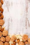 σειρά τροφίμων μπισκότων ανασκόπησης Στοκ φωτογραφίες με δικαίωμα ελεύθερης χρήσης