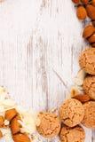 σειρά τροφίμων μπισκότων ανασκόπησης Στοκ Φωτογραφίες
