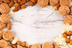 σειρά τροφίμων μπισκότων ανασκόπησης Στοκ εικόνες με δικαίωμα ελεύθερης χρήσης
